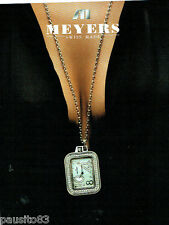 PUBLICITE ADVERTISING  016  2005  MEYERS  montre pendentif
