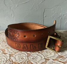 Vintage Dale Leather Belt Handmade with Brass Buckle 40,41,42,43,44� Waist Large
