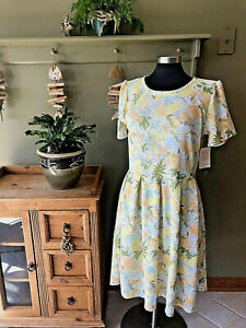 NEW - Lularoe Dress - AMELIA - White with Yellow & Orange Flowers  -2XL