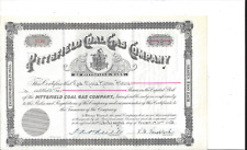 PITTSFIELD COAL GAS COMPANY (MASS.)......1953 COMMON STOCK CERTIFICATE