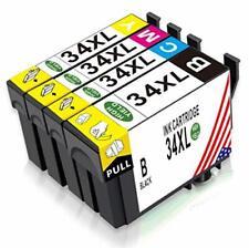 4 Stück Ersatz Druckerpatronen für Epson Workforce Pro WF-3725DWF WF-3720DWF