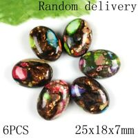 1-12Pcs Various Size Mixed Purple and Green Turquoise Oval Cab Cabochon HH6424