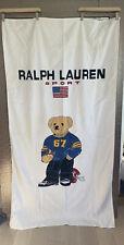 """NEW POLO RALPH LAUREN Beach Towel LIMITED EDITION """"BEACH POLO BEAR RL-67"""" 35x66"""