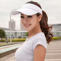 Adjustable Visor Sun Plain Hat Outdoor Sport Cap Colors Golf Tennis Beach Unisex