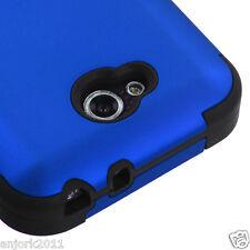 LG OPTIMUS L90 D415 TMOBILE METRO HYBRID T ARMOR CASE SKIN COVER TITANIUM BLUE