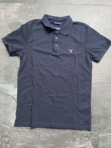Gant Poloshirt Herren dunkelblau Navy Kragen Neu Grösse M