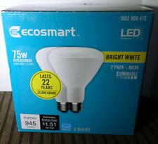 2 EcoSmart LED Light Bulb Bright White 75W Equivalent 75 Watt BR30 Dimmable