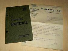 Catalogue Charrue BOUTROLLE Poily / Serein Tracteur Prospectus Brochure Prospekt