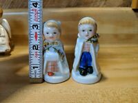Vintage Occupied Japan Boy & Girl Winter coat Salt & Pepper Shakers Set