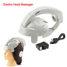 Electric Health Care Head Massager Brain Massage Relax Acupuncture Points Gray