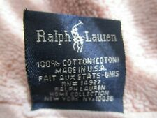 2 Vintage Ralph Lauren Bath Towels  Cotton light pink