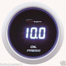 Manometro Strumento 52mm DEPO Pressione Olio 0-10 BAR Digitale + SENSORE