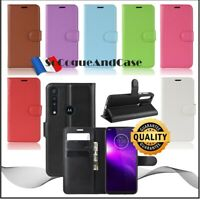 Etui coque housse Cuir PU Leather XL COLORS Case Motorola One Macro/Moto G8 Play