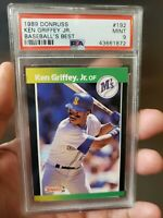 1989 Donruss Baseballs Best Ken Griffey Jr Rookie RC #192 PSA 9 HOF Mariners