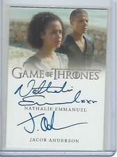 Game of Thrones Complete Series Jacob Anderson &Nathalie Emmanuel Dual autograph