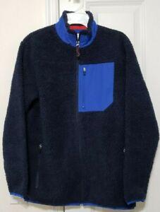 NWOT Old Navy Boys Blue Sherpa Zipper Sweater Shirt jacket XL 14-16