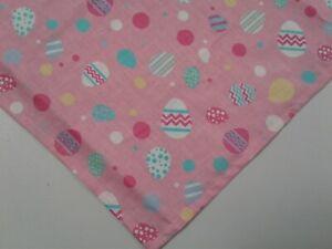Dog Bandana/Scarf, Tie On, Easter Eggs, Pink ,Custom Made  Linda , xS,S,M,L,XL