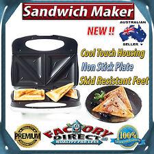 NEW! White Sandwich Maker Jaffle Grill Non Stick Bread Toaster 750W