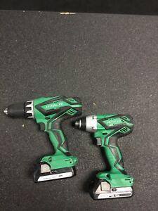 hitachi impact/drill combo 2 batteries no charger