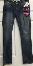 "EckoRed Junior's Jeans with Embellishments Size 5 32"" Inseam Back to School New"