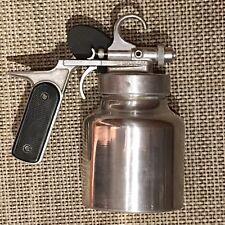 K J Miller Model No 18 Spray Gun with Metal Jar Nice Used