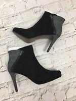 Tamaris Ankle Boots High Heels Black Grey Zip Size UK 6 US 8 (39)