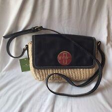 Kate Spade New York Women's Purse Straw and Leather Crossbody Bradford Orig $268