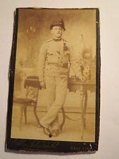 Hall Tirol - stehender Soldat ? in Uniform mit Hut - Kulisse - Portrait / CDV