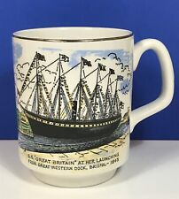 Vintage Mug Cup SS Great Britain Bristol Lord Nelson Pottery Brunel Collectable