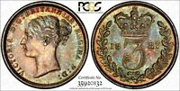 Great Britain Victoria Silver 1887 3 Pence PCGS PL64 PROOFLIKE Toning KM# 730