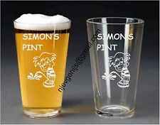 Personalised Engraved Pint Glass Breaking the Seal Birthday Party by jevge 22