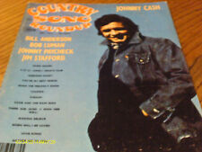 Johnny Cash  Covers Country Song Roundup Magazine September 1975 Bob Luman