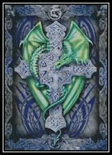 Dragon and Cross - Cross Stitch Chart/Pattern/Design/XStitch
