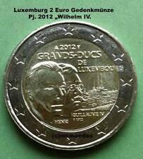 Luxemburg 2 Euro Gedenkmünze 2012 Guillaume Wilhelm IV. commemorative coin