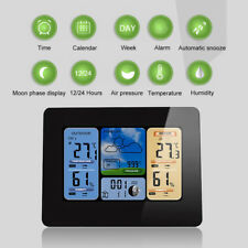Digital LCD Indoor & Outdoor Wireless Weather Station Clock Calendar Thermometer