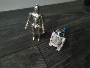 Star Wars Vintage R2d2 And C3p0 Action Figures