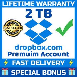 DROPBOX  2BT UPGRADABLE Cloud Storage Service / Lifetime Extra Storage Space.