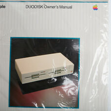 Vintage APPLE DUODISK Owners Manual Sealed
