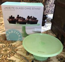 NIB Martha Stewart Jadeite Cake Stand / Footed Plate