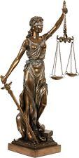 Dekofigur Justitia Göttin der Gerechtigkeit Skulptur bronziert 34 cm