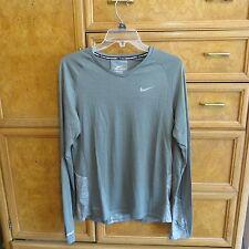 Men's Nike Running dri-fit gray long sleeve shirt wool size S Small new Nwt $95
