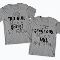 BEST FRIENDS TSHIRTS TALL ONE SHORT ONE TEEN BESTIES BFF TUMBLR GIRLS FUNNY 9