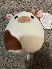 "Kellytoy Squishmallow Ronnie The Brown & White Cow 5"" NWT"