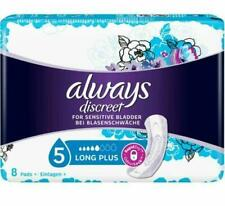 Always Discreet Long Plus Incontinence Pads (Pack Of 8 Pads) Sensitive Bladder