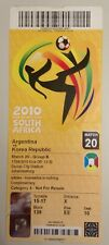 TICKET 2010 FIFA WORLD CUP SOUTH AFRICA ARGENTINA VS KOREA REPUBLIC 17/06/2010