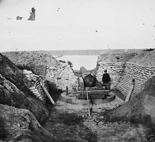 Confederate Gun Emplacement Trent's Reach April 1865 New 8x10 US Civil War Photo