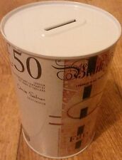 BRAND NEW £50 BANK OF ENGLAND NOTE IMAGE MONEY BOX TIN
