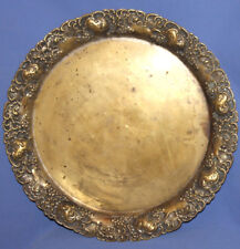Antique Art Deco German Wmf Ornate Brass Silver Plated Serving Tray