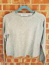 Valerie Stevens Silk Cashmere Womens S Gray Sweater Very Soft