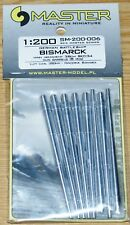 Métal tubes Bismarck-Main Gun barils 38 cm skc/34 (Trumpeter) 1/200 de Master